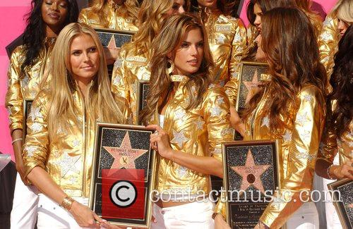 Heidi Klum, Alessandra Ambrosio, Izabel Goulart, Victorias Secret, Star On The Hollywood Walk Of Fame