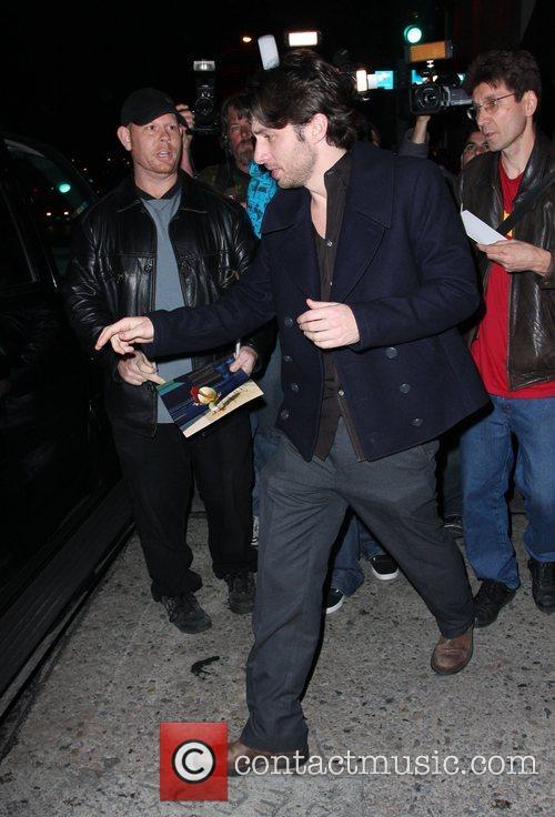 Zach Braff leaving Villa Lounge in West Hollywood...