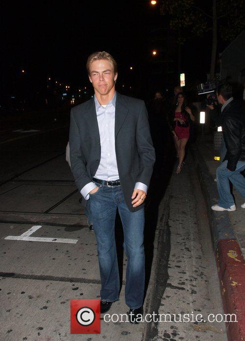 Derek Hough outside Villa Lounge in West Hollywood...