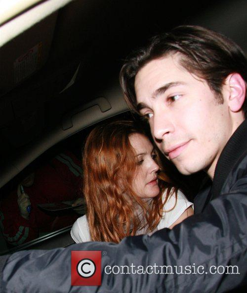 Justin Long and Drew Barrymore arriving at the...