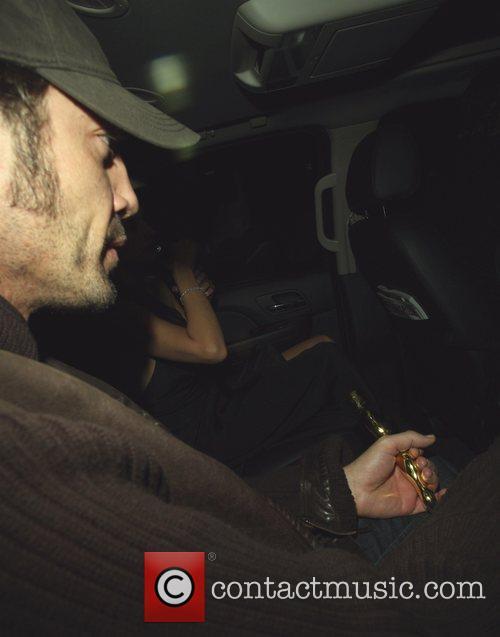 Javier Bardem leaving Villa Lounge nightclub with Penelope...