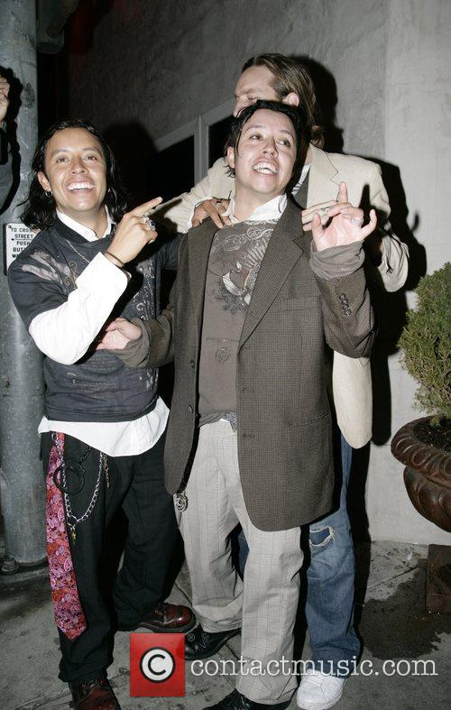 Efren Ramirez and friends leaving Villa Lounge in...