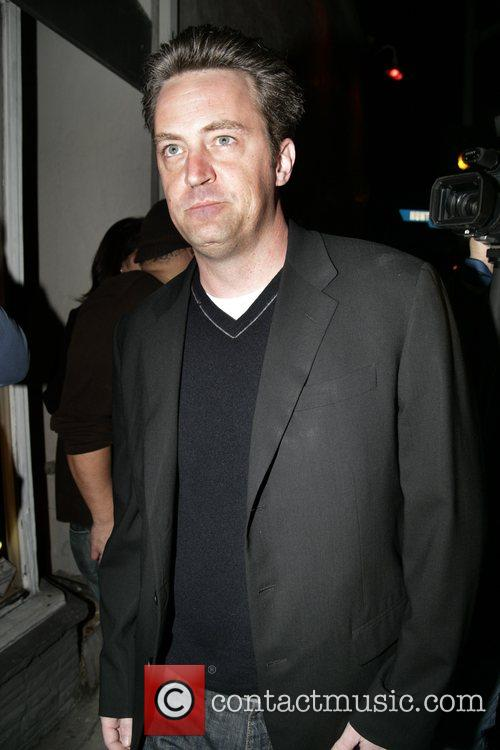 Matthew Perry leaving Villa Lounge in West Hollywood...