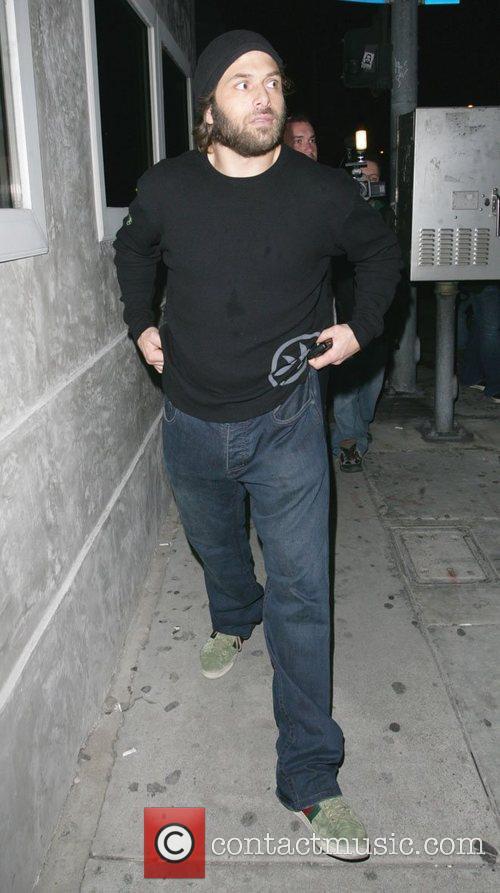 Rick Salomon leaving Villa nightclub in West Hollywood...