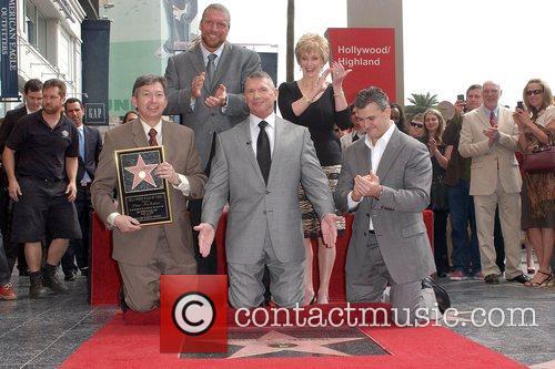 Leron Gubler, Triple H, Vince McMahon and wife,...