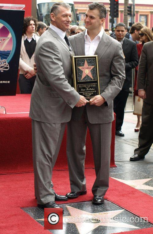 Vince Mcmahon, Shane Mcmahon, Star On The Hollywood Walk Of Fame and Walk Of Fame 11