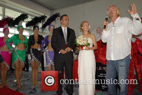 Dimitrios Papdogonas, Coco Papdogonas and Richard Branson Virgin...