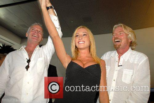 Fred Reid, Kyla Ebbert, Richard Branson Virgin America...