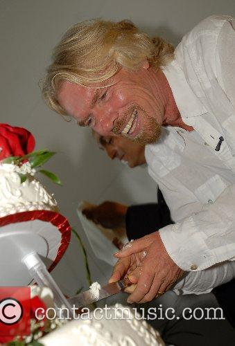 Richard Branson Virgin America celebrates the launch of...