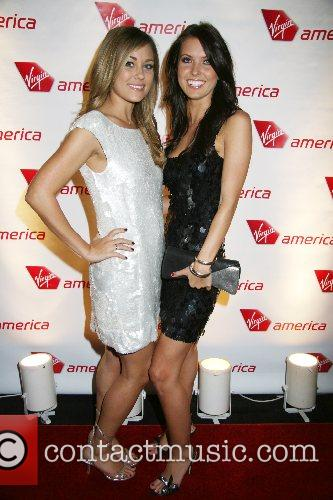 Lauren Conrad and Audrina Patridge Virgin America's Sir...