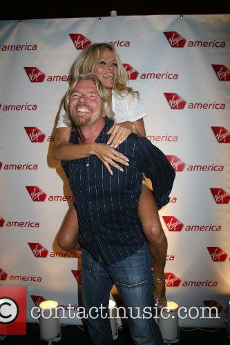 Pamela Anderson, Las Vegas and Richard Branson 5
