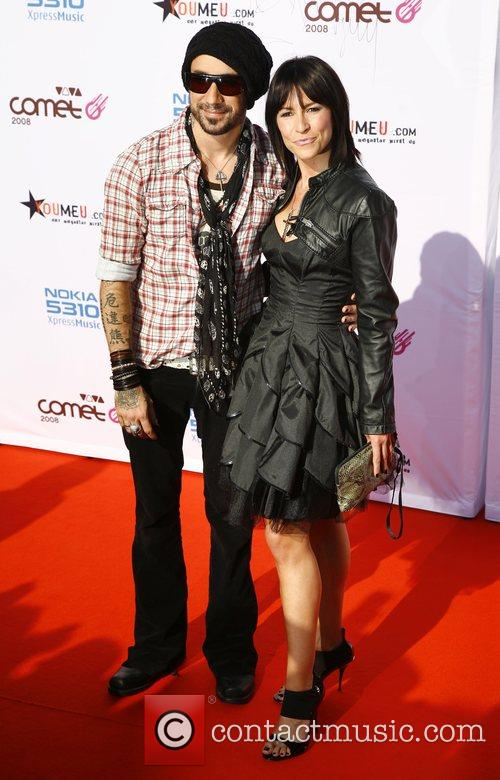 AJ McLean, wife Yvonne Viva Comet Awards 2008,...
