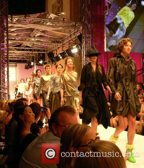 Models Vivienne Westwood Fashion Show during the Berlin...
