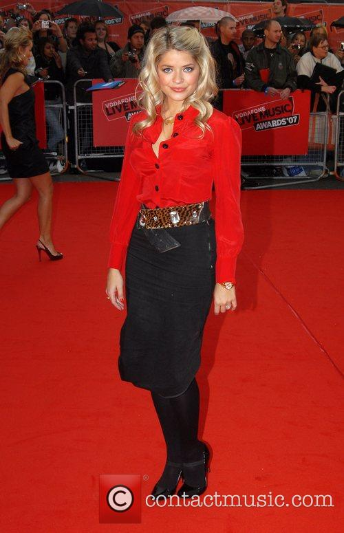 Holly Willoughby Vodafone Live Music Awards - Arrivals...