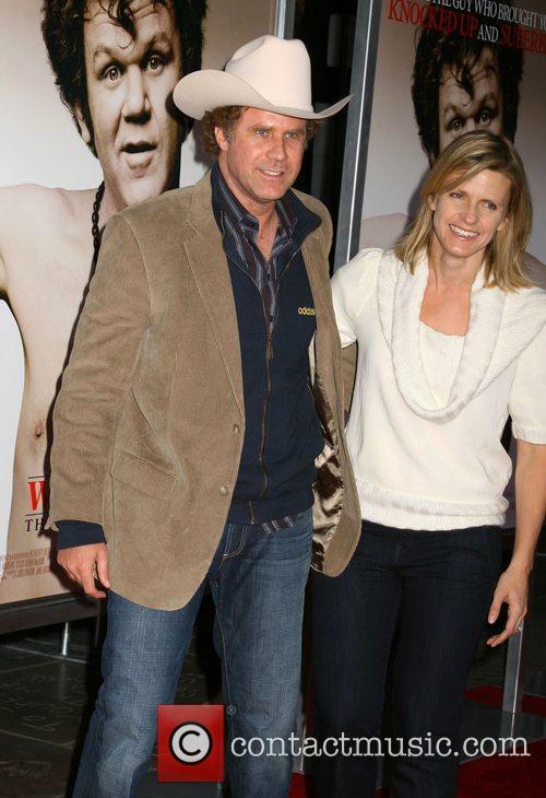 Will Ferrell and Viveca Paulin Premiere of 'Walk...