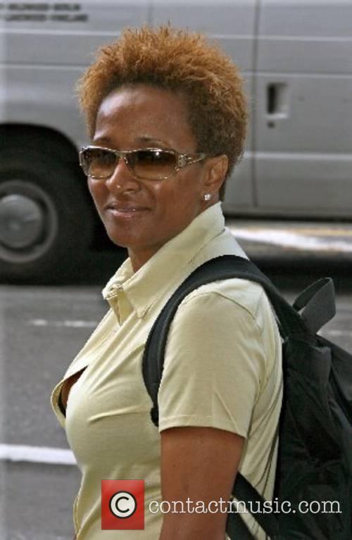Wanda Sykes walking her dog in Manhattan New...