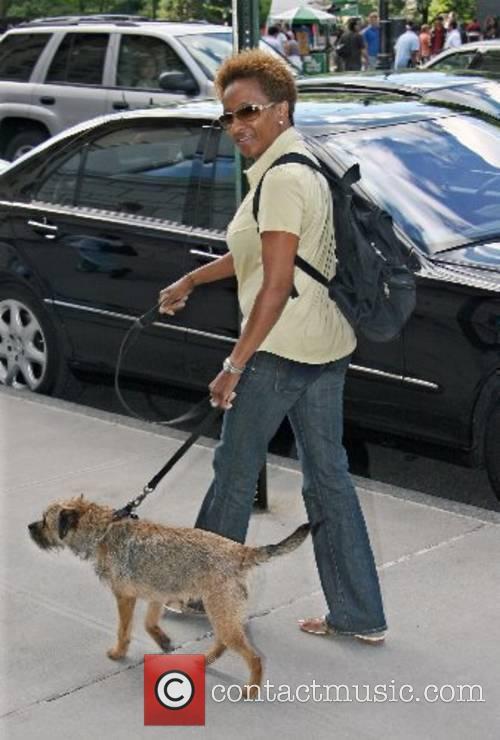 Wanda Sykes walking her dog in Manhattan