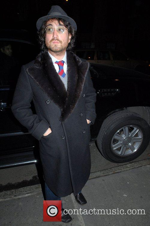 Sean Lennon  leaving the Waverly Inn...