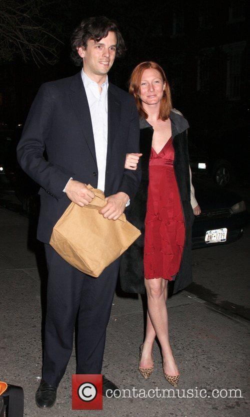 Maggie Rizer and friend arriving at The Waverly...