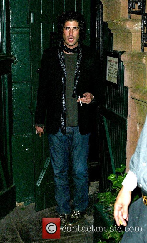Brandon Davis outside the Waverly Inn restaurant New...