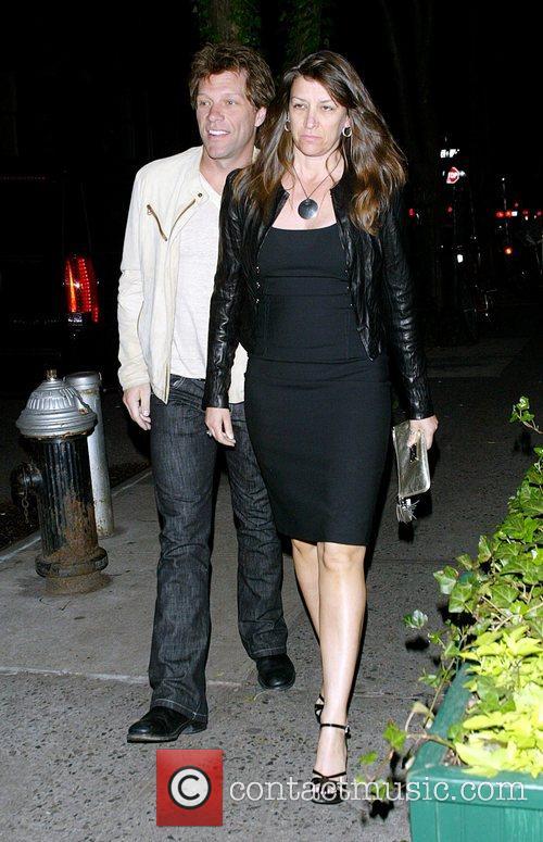 Jon Bon Jovi and his wife Dorothea Hurley...