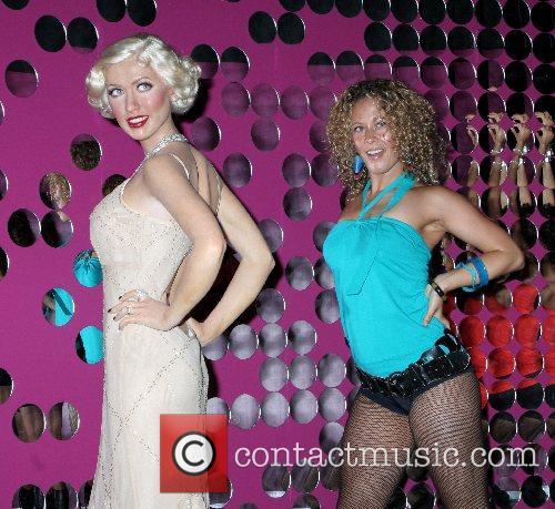 Christina Aguilera wax figure arrives at Madame Tussaud...
