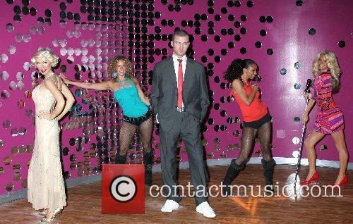 Christina Aguilera and Justin Timberlake wax figure arrives...