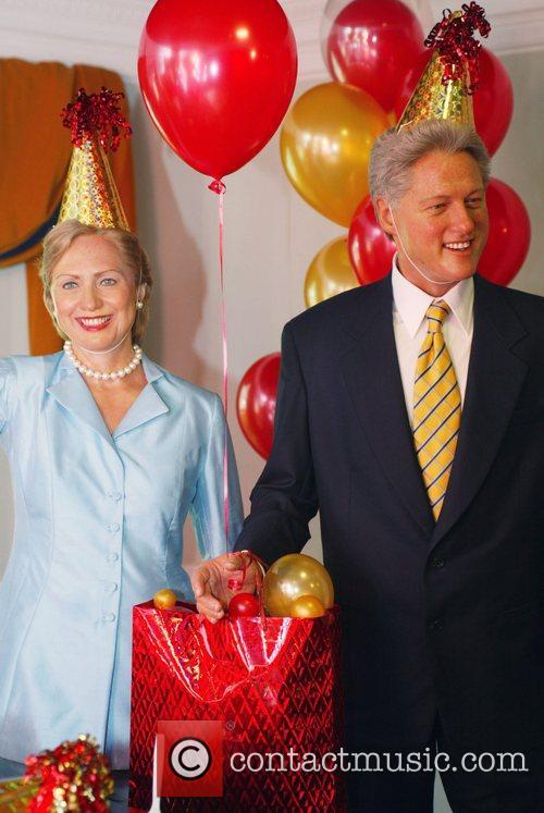 Senator Hillary Clinton wax figure and Former U.S....