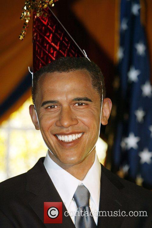 Senator Barak Obama wax figure Madame Tussauds imported...