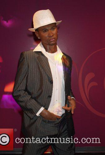 Usher wax figure at Madame Tussaud for the...