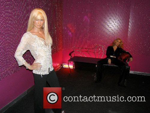 Paris Hilton and Madonna wax figure at Madame...
