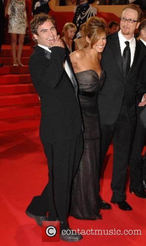 Joaquin Phoenix, James Gray and Eva Mendez 2007...