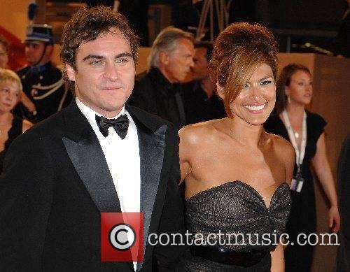 Joaquin Phoenix and Eva Mendez 2007 Cannes Film...