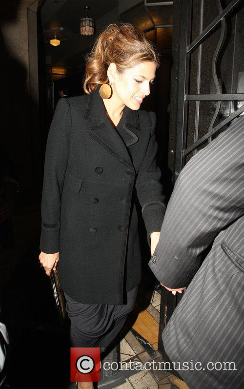 Eva Mendes leaving a wedding held at the...