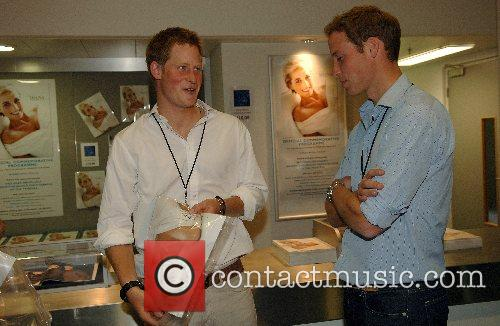 Prince William and Prince Harry check out the...