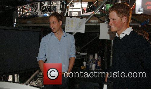 Prince Harry tour the production, sound and lighting...