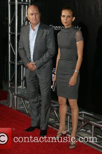 Robert Duvall and wife New York Premiere of...