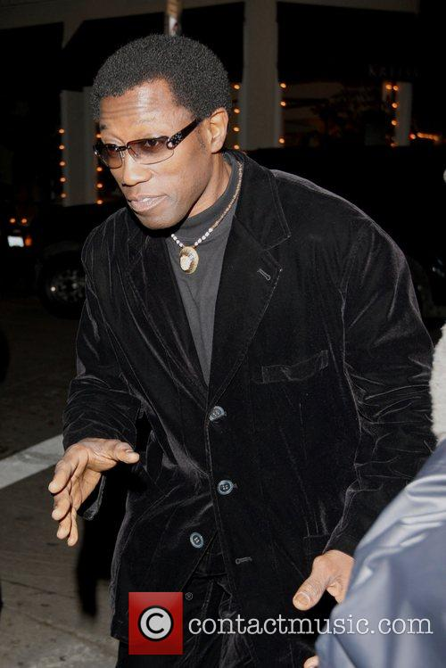 Wesley Snipes leaving the Villia Lounge In Hollywood...
