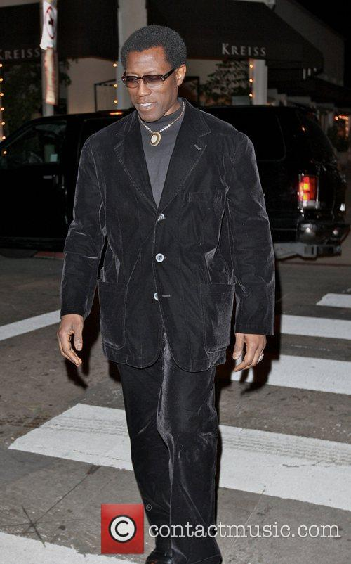 Wesley Snipes leaving the Villia Lounge In Hollywood