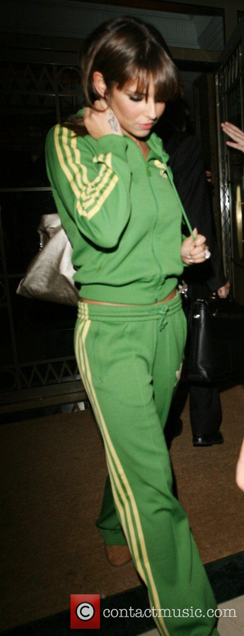 Cheryl Cole leaving the Westbury hotel London, England