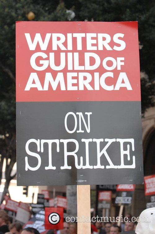 Atmoshpere The Writers Guild America West solidarity march...