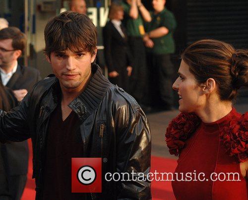 Ashton Kutcher, Lake Bell at the premiere of...