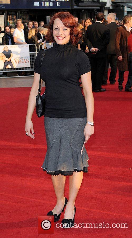 Sarah Cawood UK film premiere of 'What Happens...