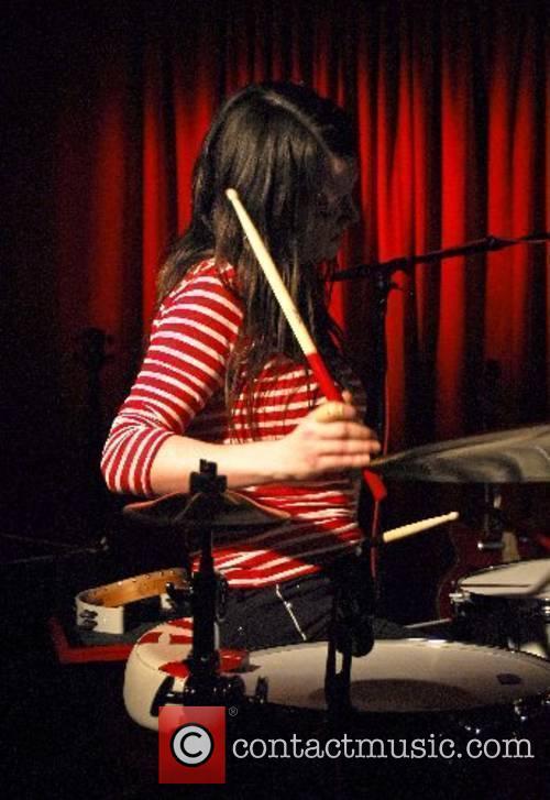 Meg White of 'The White Stripes' performing at...