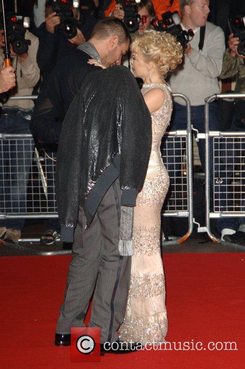 William Baker and Kylie Minogue UK film premiere...