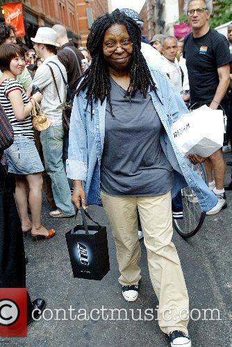 Whoopi Goldberg, one of the first customers to...