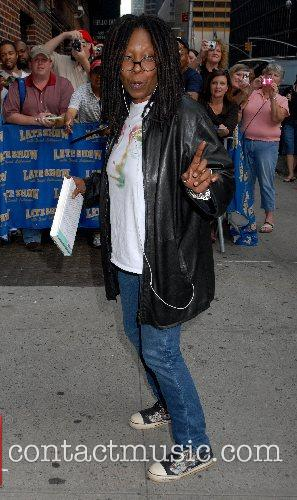 Whoopie Goldberg arrives at the Ed Sullivan Theatre...