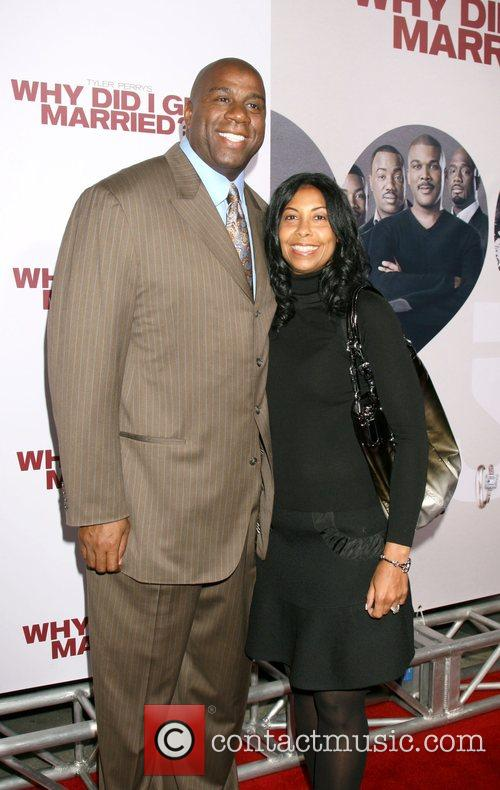 Magic & Cookie Johnson World film premiere of...