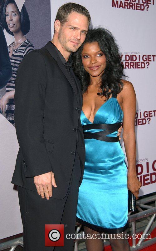 Keesha Sharp and Husband World film premiere of...