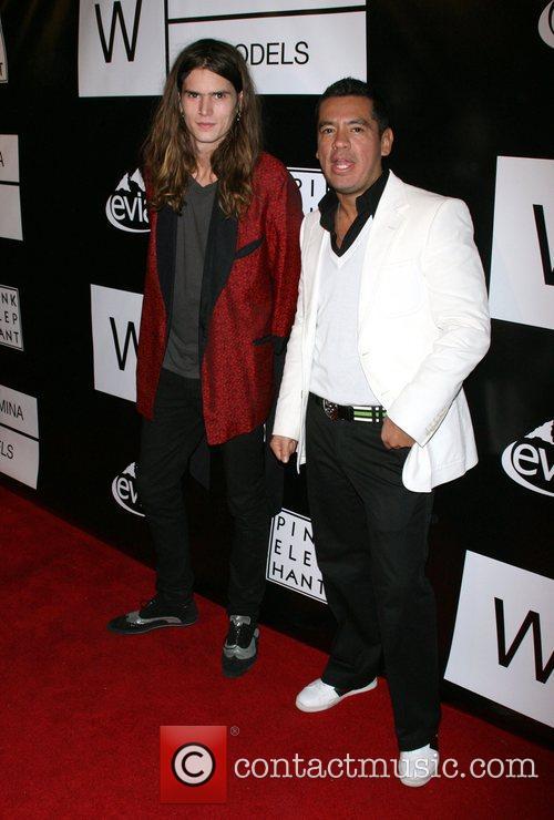 Jammie Berk and Sean Patterson Wilhelmina models celebrate...